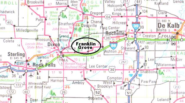 Map to Franklin Grove